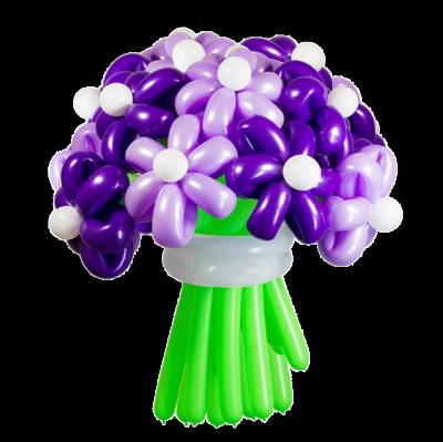 Фиолетовый букет из 11 цветков