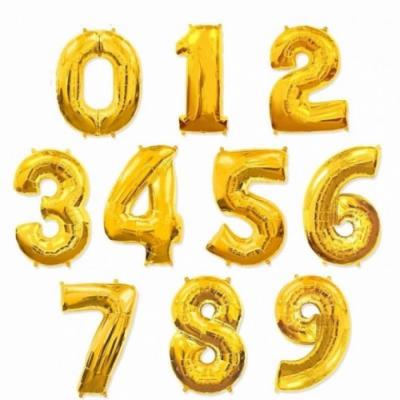 Золотые цифры из фольги