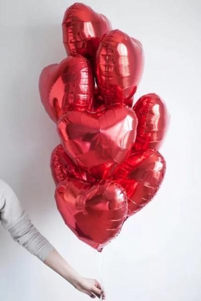 9 гелиевых сердец
