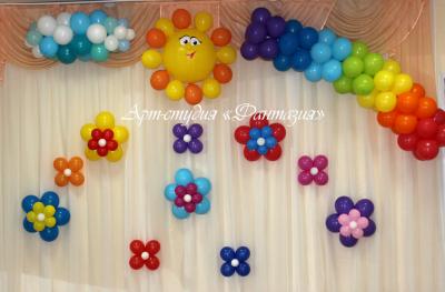Оформление шарами детского сада №120