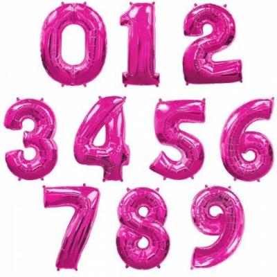 Фольгированные цифры (Малиновый цвет)