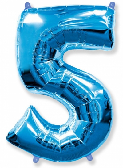 Большая цифра 5 (синяя)