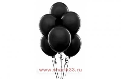 Черные гелиевые шарики