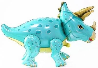 Динозавр Трицератопс голубой