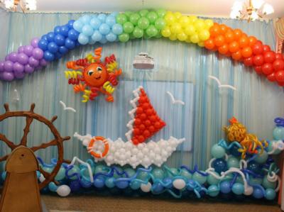 Морское оформление детского сада №57