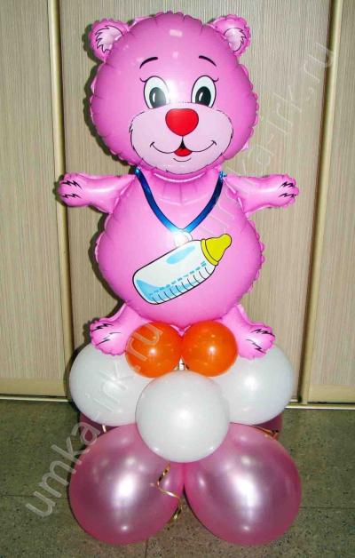 Мишка для девочки на подставке