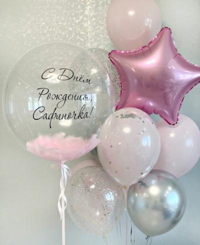 Нежно-розовый набор с серебром