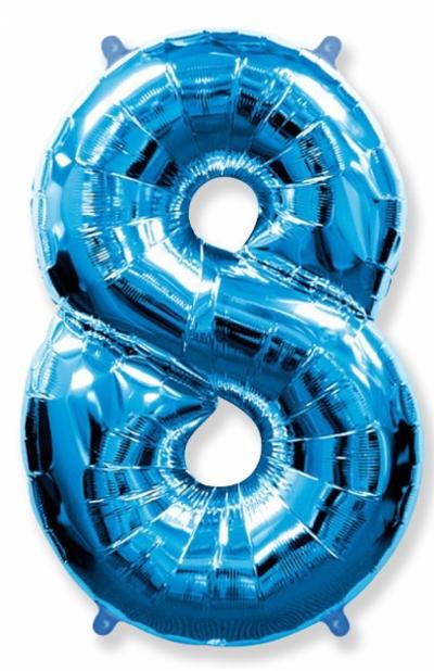 Большая цифра 8 (синяя)