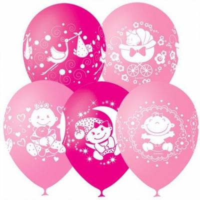 Гелиевые шары на выписку для девочки