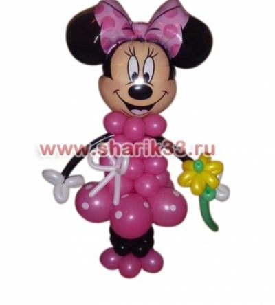Микки-Маус (девочка) с цветочком