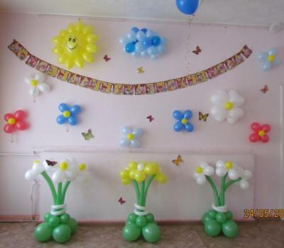 Бюджетное украшение в детском саду №73