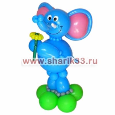 Слоник с цветочком
