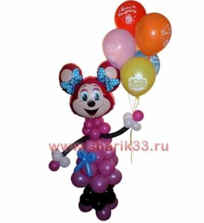 Мышка Лолли с шариками (5 шт)