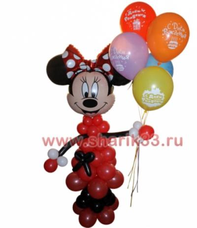 "Микки-маус с шариками ""С Днем Рождения"" (5 шт)"