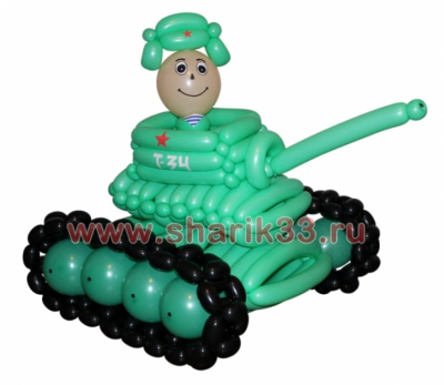 Танк с танкистом