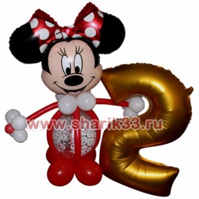 Микки-Маус (девочка) с цифрой