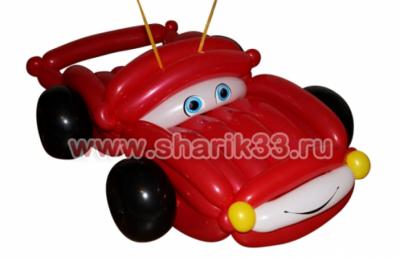Машина из воздушных шаров