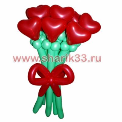 Букет из шаров: 7 сердечек
