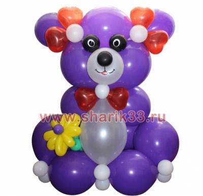 Большой мишка (фиолетовый)
