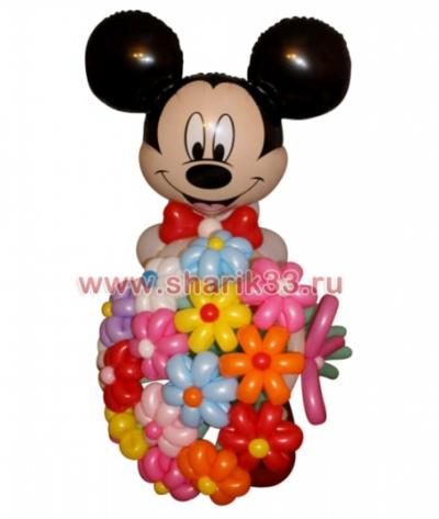 Микки-Маус с цветами (15 шт)