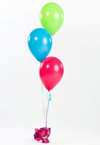 Фонтан из 3 шариков