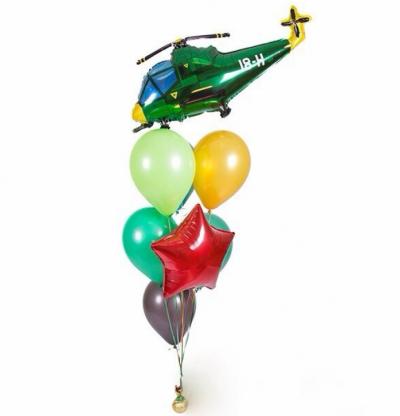 Фонтанчик с вертолетом