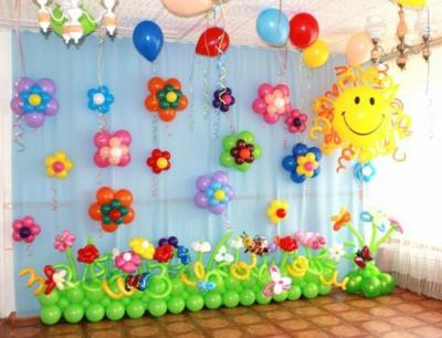 Оформление детского садика шарами №87
