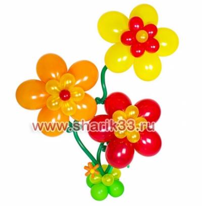 Гелиевые цветы (3 шт)