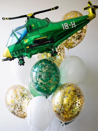 Набор из 10 шаров с вертолетом