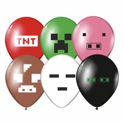Гелиевые шары с пикселями Майнкрафт