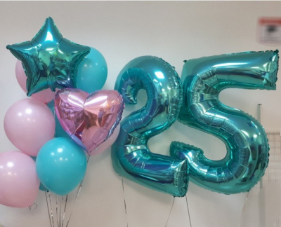 Цифра 25 + Стойка из шаров