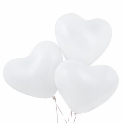 """Гелиевые шарики """"Белые сердечки"""""""