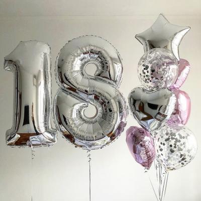 Цифра 18 + Фонтан из шаров