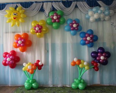 Оформление актового зала шарами №105