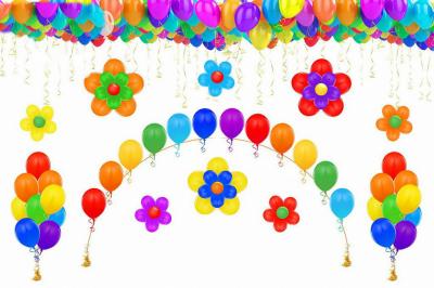 Оформление зала воздушными шарами №8
