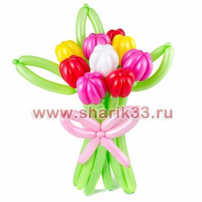 Букет с тюльпанами (9 штук)