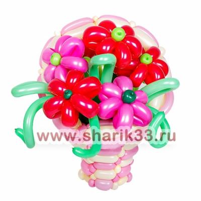 Корзинка с 7 цветками