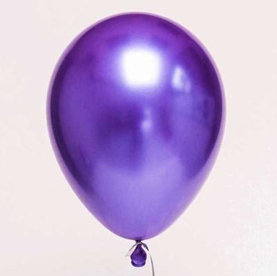 Гелиевые шары ХРОМ фиолетовые