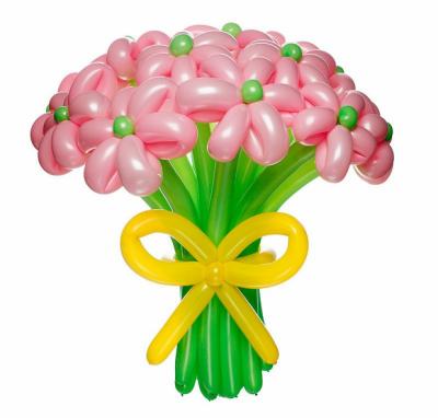 Розовый букет из 11 цветков