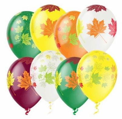Гелиевые шары с осенними листьями