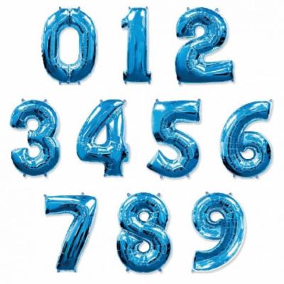 Метровые цифры из фольги (Синие)